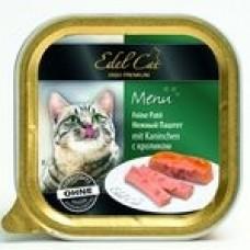 """Edel Cat паштет """"Кролик"""", консервированный корм для котов, 100гр"""
