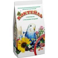Корм Коктейль «Суперменю с лесными ягодами» для волнистых попугаев, 500гр