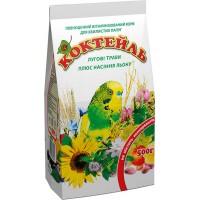 Корм Коктейль «Луговые травы + семена льна» для волнистых попугаев, 500гр