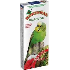 Колосок для попугаев Коктейль «Гибискус, чумиза, кокос»