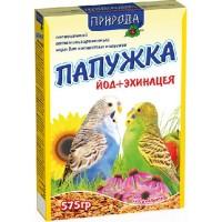 """Корм """"Природа"""" «Папужка йод + эхинацея» для волнистых попугаев, 575гр"""