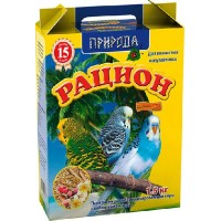 """Корм """"Природа"""" """"Рацион «Мультивитамин + Йод»"""" для волнистых попугаев с йодом, 1,5кг"""
