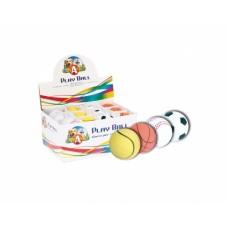 Игрушка для соб. CaniAMici мяч резина литой, Д=5,5см, 4 вида, 24 шт/уп