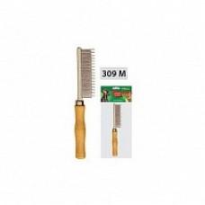 Расческа разнозуб с деревянной ручкой 0121