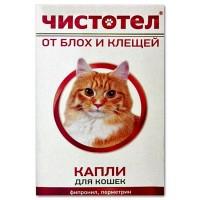 Чистотел капли от блох и клещей кошка