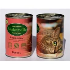 Baskerville конс для котов 400г лосось