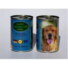Baskerville конс для собак 400г Ягненок петух