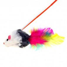"""Удочка-дразнилка для кота """"Мышка с перьями"""" В 015"""