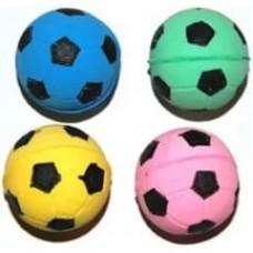 Мяч зефирный футбольный одноцветный 4,5см