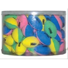 Мяч зефирный для регби двухцветный 6см *4шт