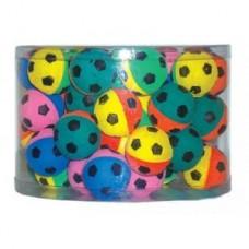 Мяч зефирный футбольный двухцветный 4,5см