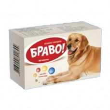 Витамины Браво для собак больших пород таблетки № 100 - ПРОДАЖА УПАКОВКОЙ 100 ТАБЛ
