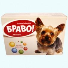 Витамины Браво для собак мелких пород таблетки № 300 - ПРОДАЖА БЛИСТЕРОМ ПО 100 ТАБЛЕТОК