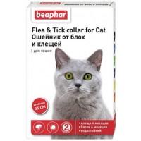 Ошейник Бефар красный от блох и клещей для котов 35см