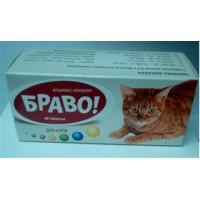 Витамины Браво для котов таблетки № 60 - ПРОДАЖА УПАКОВКОЙ 60 ТАБЛ