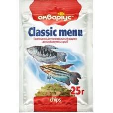 Аквариус меню классик чипсы 25гр