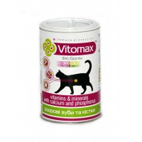 Витомакс укрепление зубов и костей для котов 300таб