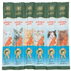 Жевательные колбаски для котов Allegro Cat 6*5гр (лосось форель)