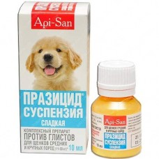 Празицид суспензия для щенков крупных пород 10мл