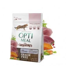 Optimeal сухой корм для котов беззерновой с уткой и овощами, 4кг