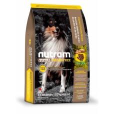 """Nutram T23 (Сухой без злаковый корм класса """"ХОЛИСТИК"""" для щенков и взрослых собак с индейкой, курицей и уткой), 13,6кг"""