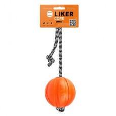 6296 Мячик ЛАЙКЕР Корд на шнуре, диаметр 7см