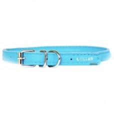 "22402  Ошейник ""Colllar GLAMOUR"" круглый( диаметр 6мм,длинна 20-25см) синий"