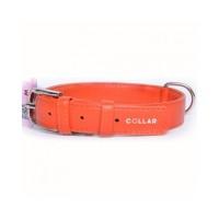 """33044 Ошейник """"Colllar GLAMOUR"""" без украшения (шир25мм,длина 38-49см)оранжевый"""