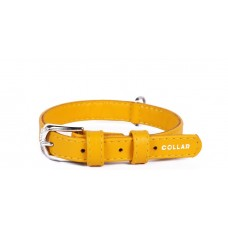 """33228 Ошейник """"Colllar GLAMOUR"""" без украшения (шир35мм,длина 50-61см) желтый"""