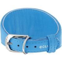 "34642 Ошейник ""Colllar GLAMOUR"" для борзых без украшений (шир. 15мм, длина 23-27см) синий"
