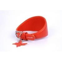 """34643 Ошейник """"Colllar GLAMOUR"""" для борзых без украшений (шир. 15мм, длина 23-27см) красный"""