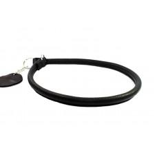 """75411 Ошейник-удавка рывковый """"Colllar GLAMOUR"""" круглый (диаметр 10мм, длина 50см) черный"""