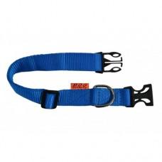 """01622 Ошейник """"Dog Exstreme"""" нейлоновый регулируемый  (шир.20мм, длина 25-40см) синий"""