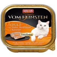 Vom Feinsten консерва для кошек 100г курица - лосось - шпинат