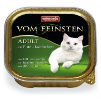 Vom Feinsten консерва для кошек 100г индейка-кролик