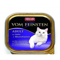 Vom Feinsten консерва для кошек 100г курица-морепродукты