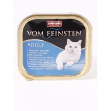 Vom Feinsten консерва для кошек 100г лосось-креветки