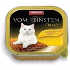 Vom Feinsten консерва для кошек 100г с куриной печенью