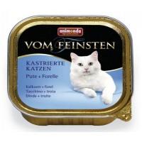 Vom Feinsten консерва для кастрированных кошек 100г индейка-форель