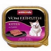 Vom Feinsten консерва для кошек 100г для котят ягня