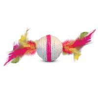 Когтеточка-шарик с пером малый 5,5см  S 2031