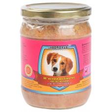 Мясной деликатес СТЕКЛО для собак 500г ПРЕМИУМ индюк