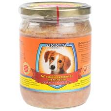 Мясной деликатес СТЕКЛО для собак 500г ПРЕМИУМ курица морковка
