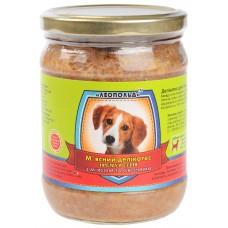 Мясной деликатес СТЕКЛО для собак 500г ПРЕМИУМ мясо-овощи
