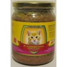 Мясной деликатес СТЕКЛО для котов 500г ПРЕМИУМ курица
