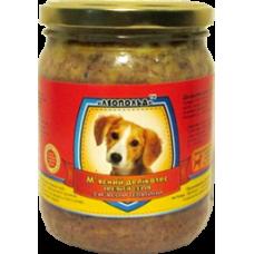 Мясной деликатес СТЕКЛО для собак 500г ПРЕМИУМ телятина