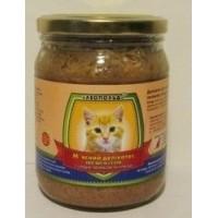 Мясной деликатес СТЕКЛО для котов 500г ПРЕМИУМ сердце, печень, курица