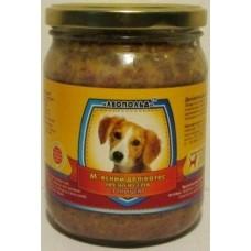 Мясной деликатес СТЕКЛО для собак 500г ПРЕМИУМ птица