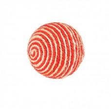 Когтеточка-шарик сизаль оранж-белый 9см 2015