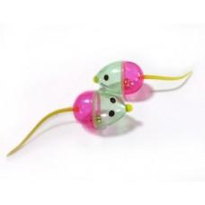Мышка пластик со звоночком  2 шт 1654